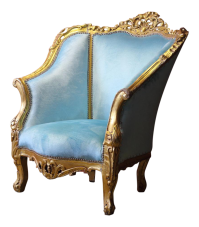 Baby Blue Victorian Style Chair