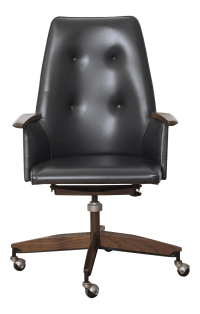Mid Century Executive High Back Office Chair | Chairish