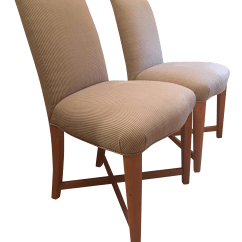 Striped Dining Chair Dental For Sale Vintage Donghia Studio Chairs A Pair