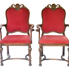 Red Velvet Office Chair Banquet Chairs For Sale Bohemian Dining Accent A Pair Chairish