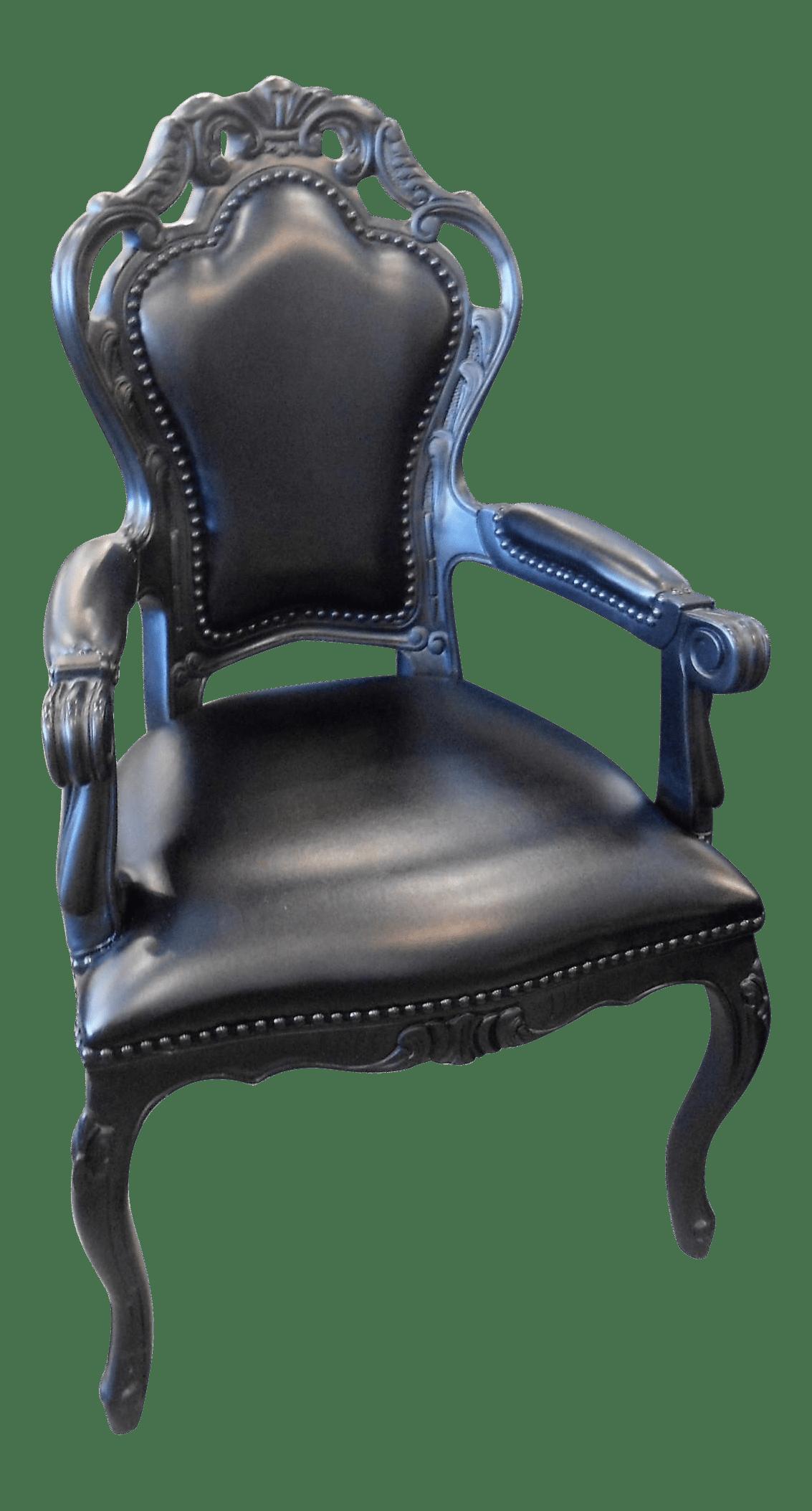 black throne chair stool work polart small armchair chairish