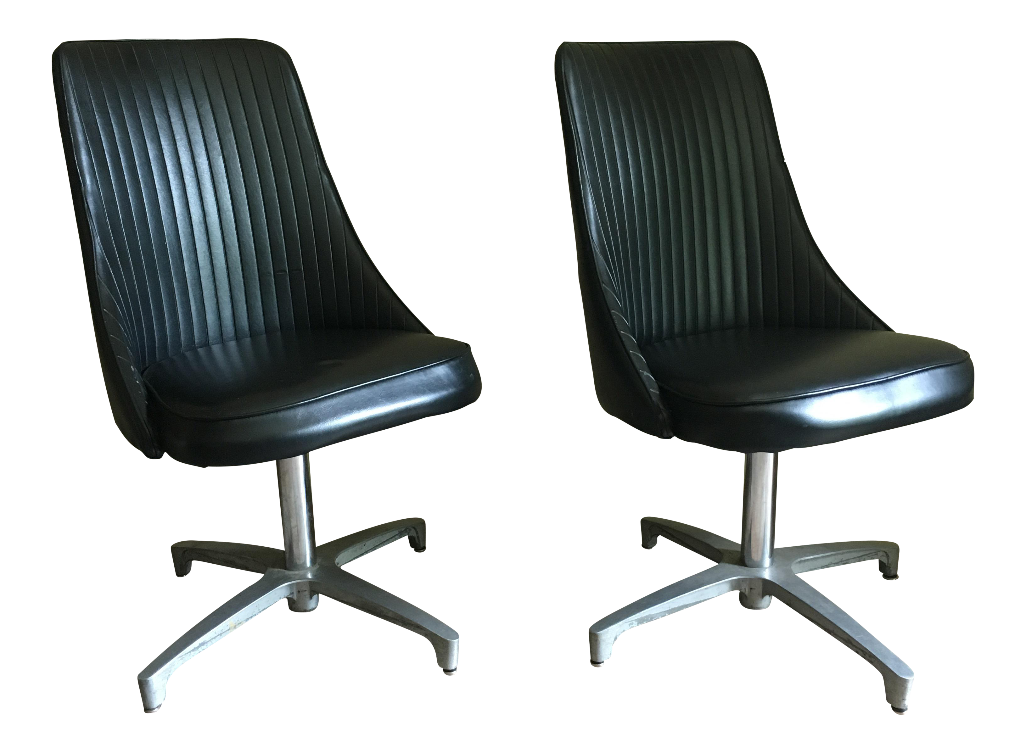 chromcraft chairs vintage poker table with black a pair chairish
