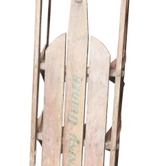 Metal Rocking Chair Runners Dental Accessories India Vintage Weathered Wood And Runner Sled Chairish