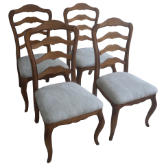Country French Side Chairs Wooden Lawn Patterns Ethan Allen Ladderback S 4