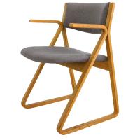 Stow Davis Mid-Century Upholstered Triangle Chair | Chairish