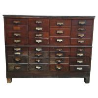 31 Drawer Antique Storage Cabinet | Chairish