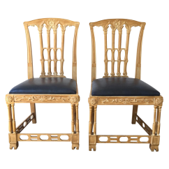 Chippendale Rocking Chair Indian Rosewood Chairs 20th C Style Carved A Pair Chairish