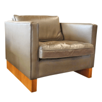 Mies Van Der Rohe for Knoll Leather Club Chair | Chairish