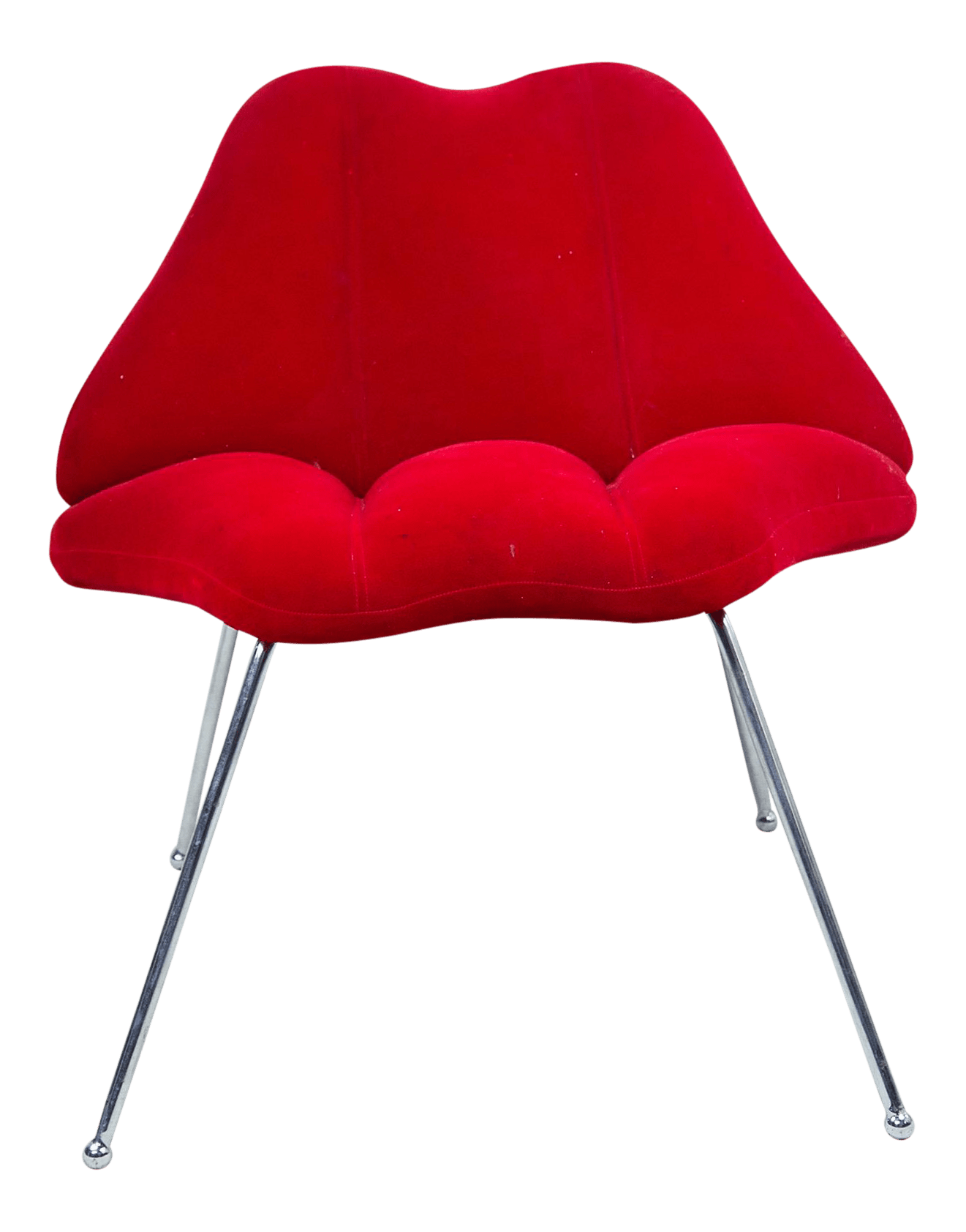 Lip Chair Modern Red Velvet Quotlips Quot Chair Chairish