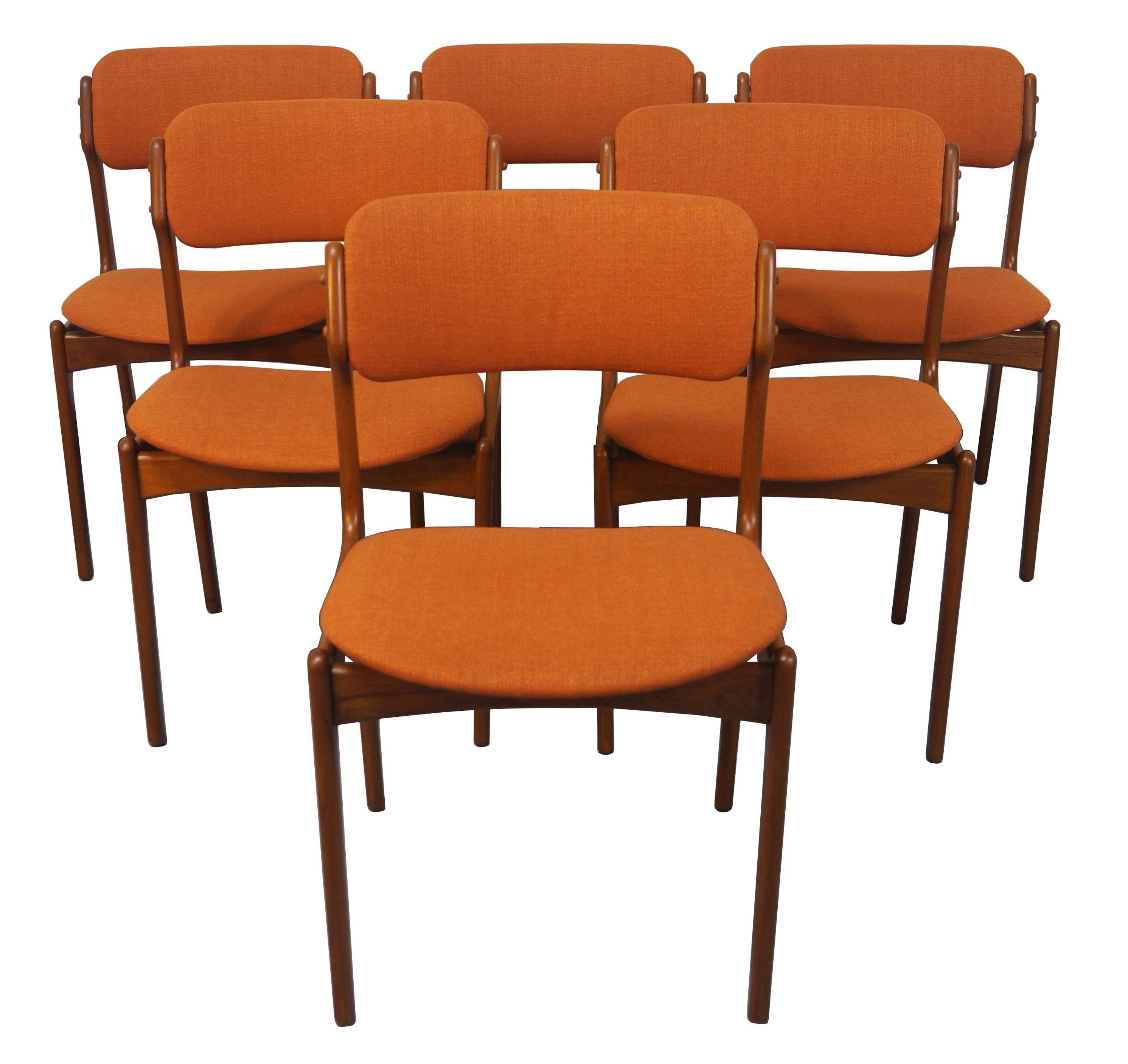 erik buck chairs gold wedding buch danish modern teak dining 6 chairish