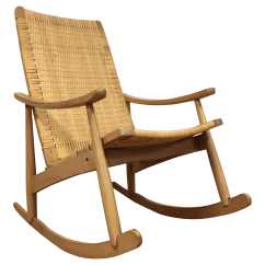 Design Within Reach Rocking Chair Modern Kitchen Table And Chairs Mid Century Cane Back Chairish