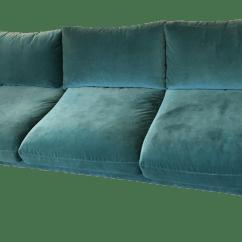 Dark Teal Sofa Black Leather Covers Velvet Blue