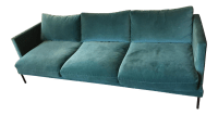 Teal Velvet Sofa | Dark Teal Velvet Sofa | Teal Blue ...