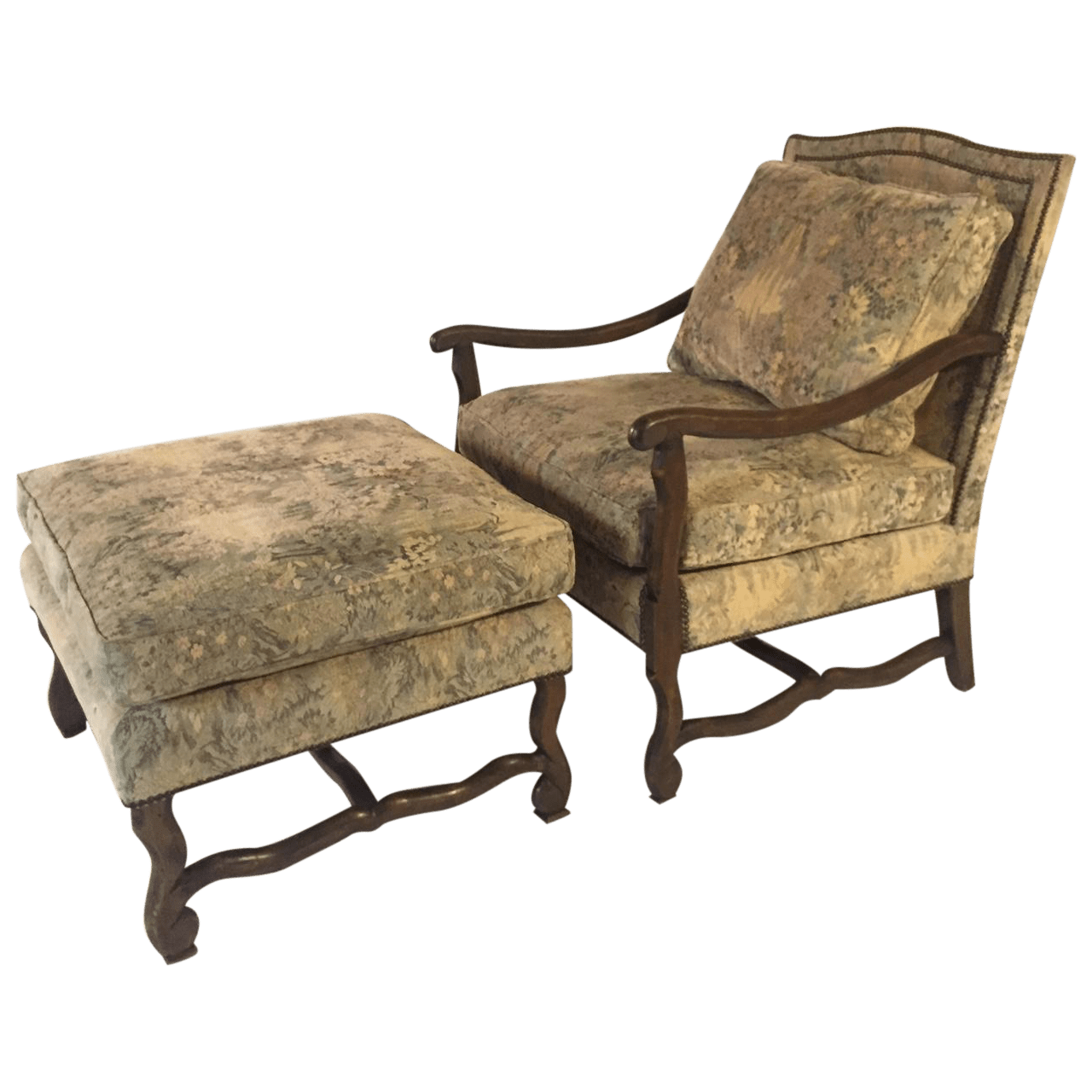 Barcelona Lounge Chair Barcelona Lounge Chair And Ottoman Set Chairish