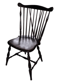 Antique Windsor Wood Spindle Back Dining Chair | Chairish
