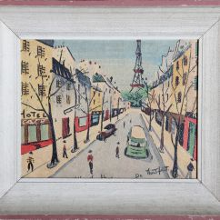 Sofas For Sell Single Sofa Chair Philippines Charles De Montfort Print On Board - Paris Scene | Chairish