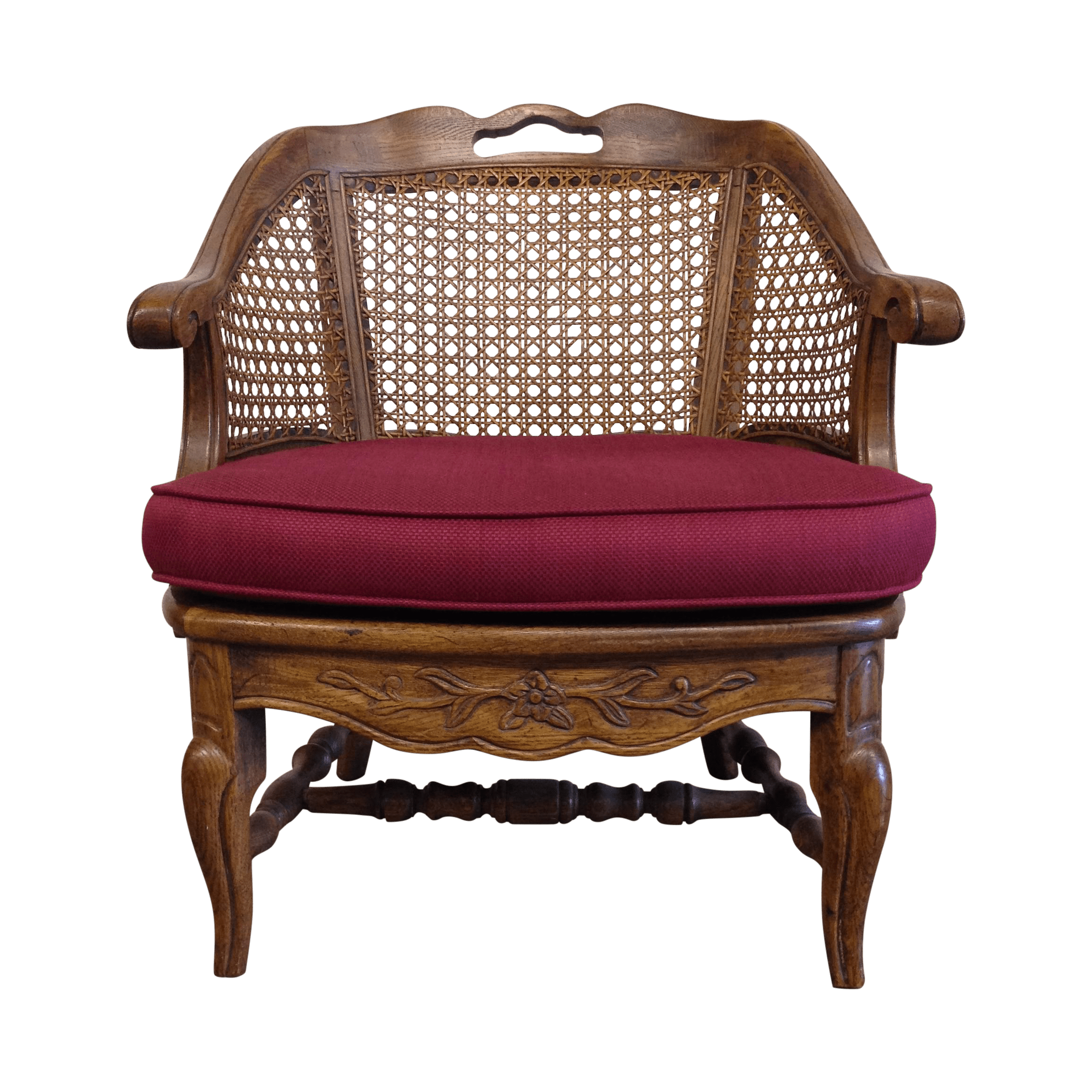 french barrel chair covers sizes provincial cane back chairish