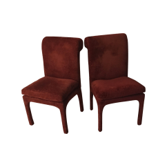 Maroon Office Chairs Outdoor Table Thayer Coggin Vintage A Pair Chairish