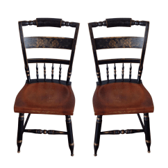 Hitchcock Desk And Chair Anti Gravity Costco Antique Dining Chairs A Pair Chairish