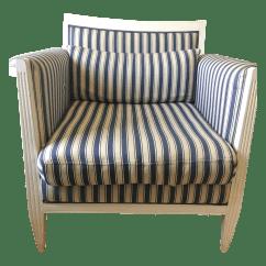 Blue And White Striped Chair Hercules Big Tall Drafting Club Chairish
