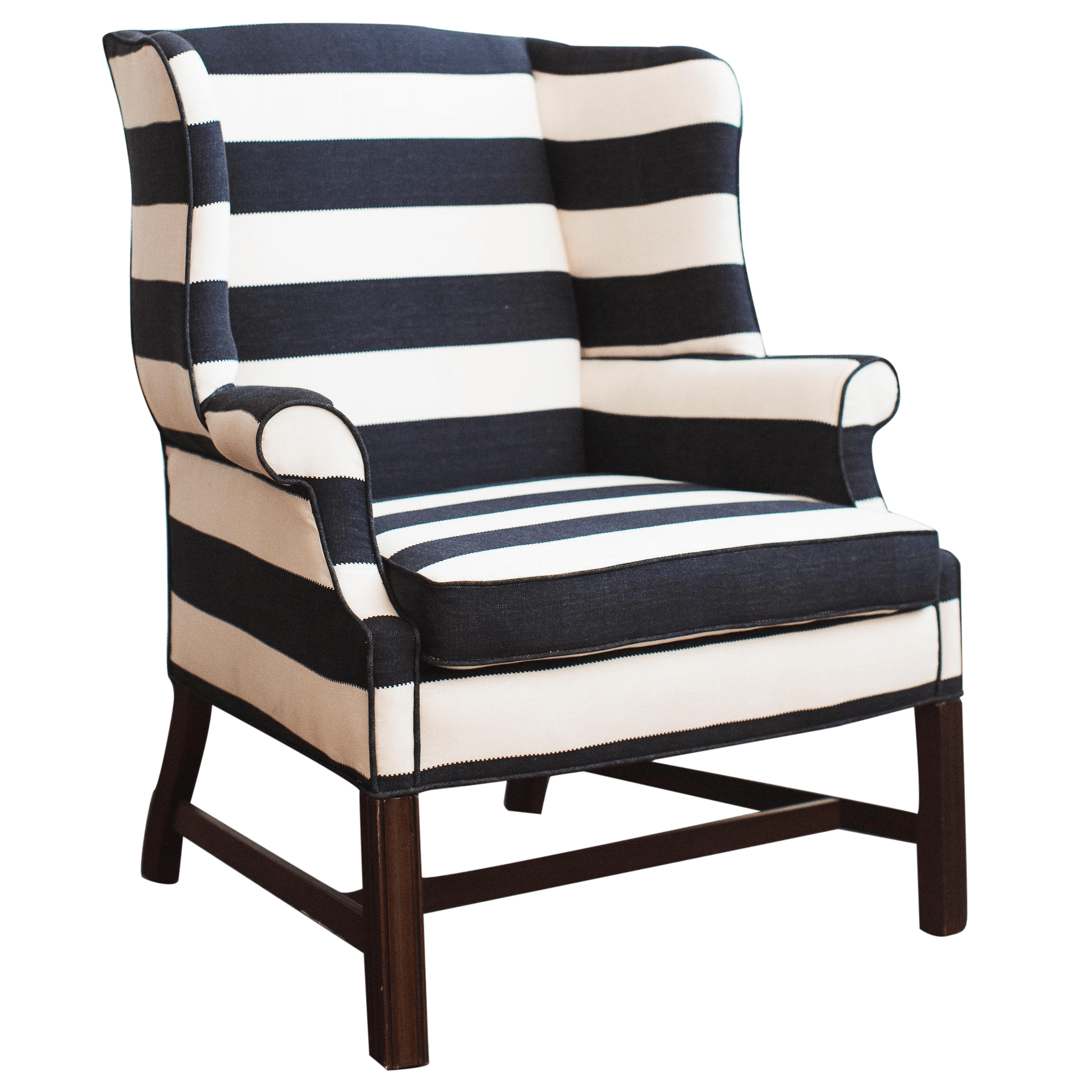 black white striped chair modern grey office chairs large upholstered and chairish