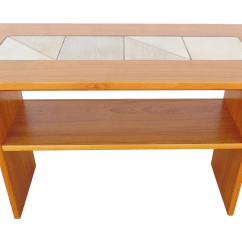 Teak Sofa Table Coffee And Set Pair Of 1960s Open Cube Side Tables In