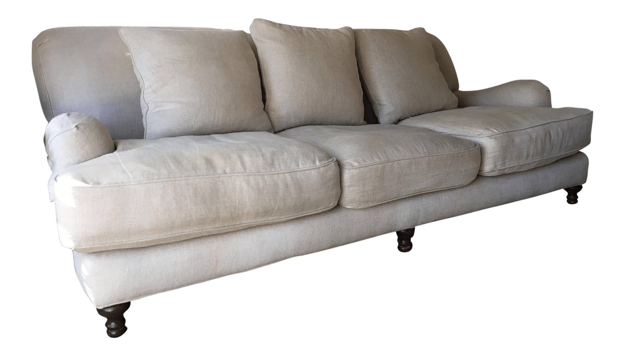 english arm sofa restoration hardware recliner orange county ca sand linen roll