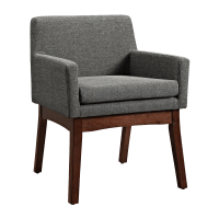 Upholstered Gray Mid Century Modern Accent Chair | Chairish