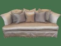 Marge Carson Skirted Sofa | Chairish
