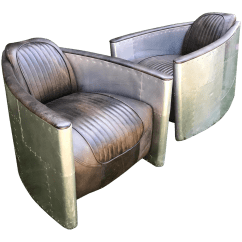 Restoration Hardware Aviator Chair Used How To Cane A Chairs By Pair Chairish