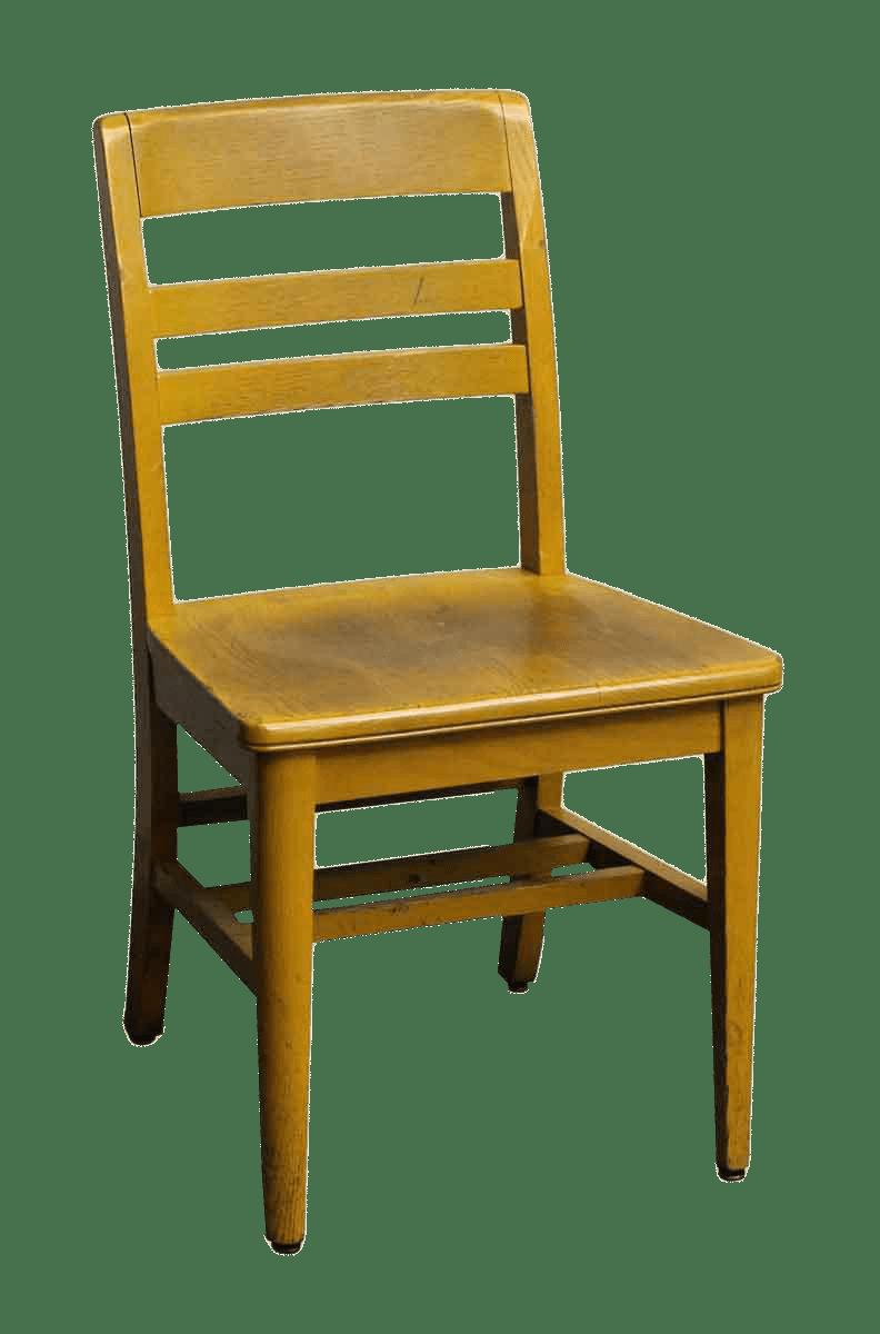 Wooden School Chair  Chairish