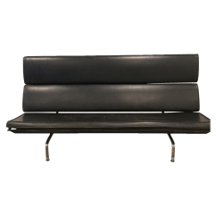 Eames Sofa Compact Sectional For Rv Vintage Black Chairish