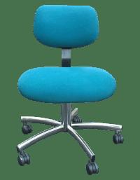 Steelcase Modern Teal Swivel Office Chair | Chairish