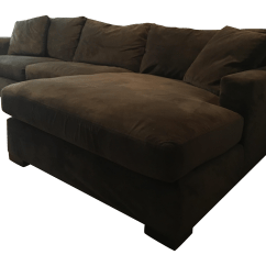 Room And Board Metro Sofa With Chaise Feather Filled Sofas Second Hand Brown Sectional Chairish