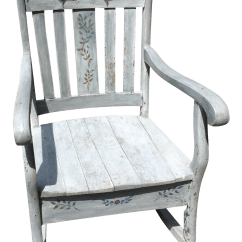 Design Within Reach Rocking Chair Oversized Lounge Chairs Rustic Hand Painted Chairish