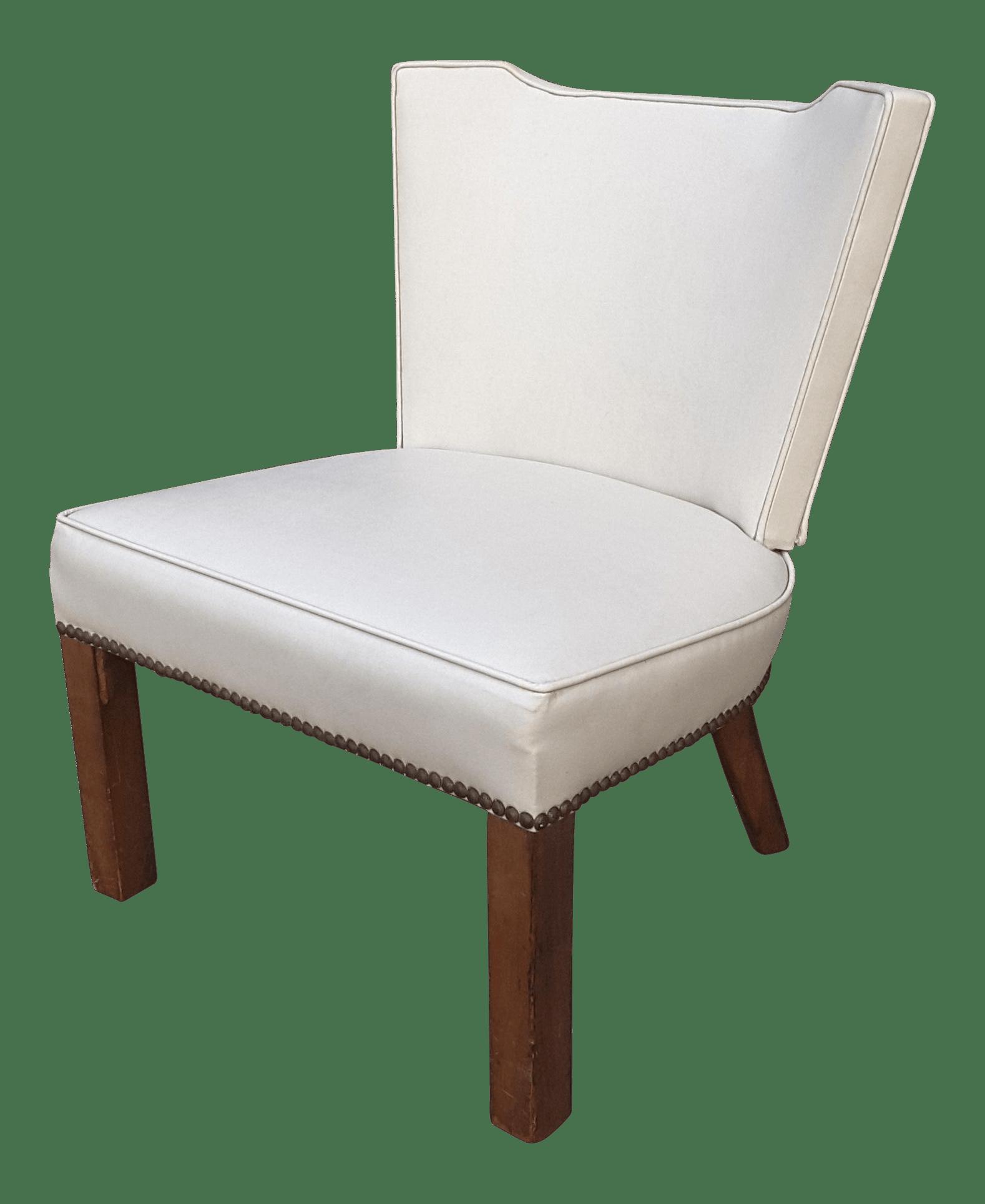 modern slipper chair white dining mid century chairish