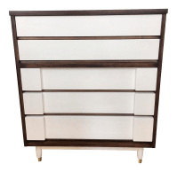 United Furniture Co. Mid Century Tall Dresser | Chairish