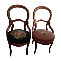 Chair With Balloons Unfinished Adirondack Chairs Lowes Victorian Balloon Back Pair Chairish