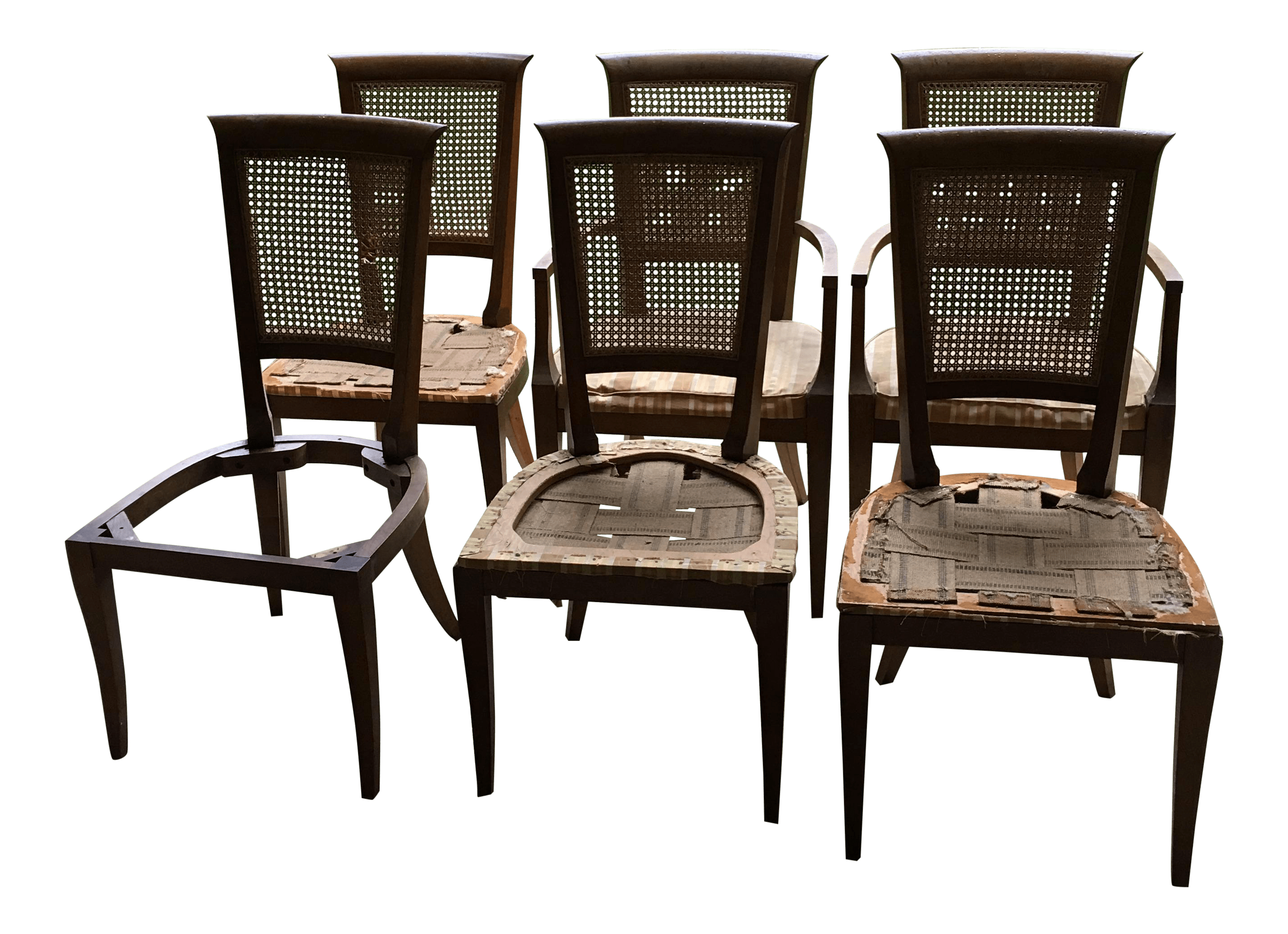 Baker Dining Chairs Baker Cane Back Dining Chairs Set Of 6 Chairish