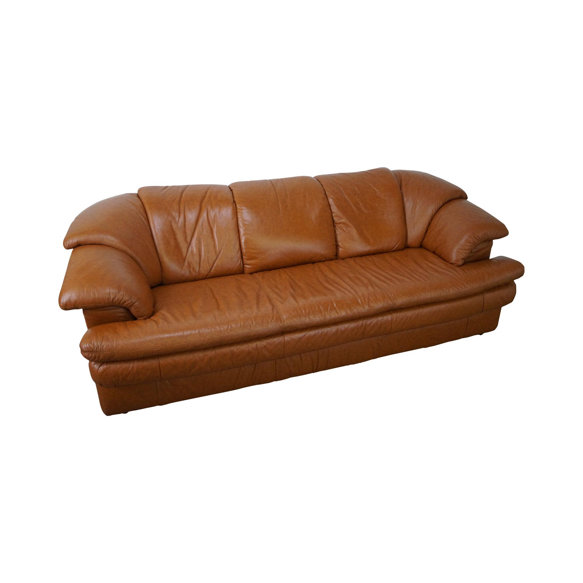 caramel colored leather sofas sofa suppliers malaysia natuzzi vintage color chairish