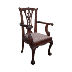 Chippendale Rocking Chair Office Max Folding Chairs Style Mahogany Miniature Arm Chairish