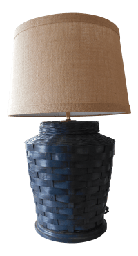 Vintage Basket Lamp With Shade