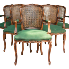 French Cane Back Dining Chairs Revolving Chair Parts Suppliers In Mumbai Country Caned Set Of 6 Chairish