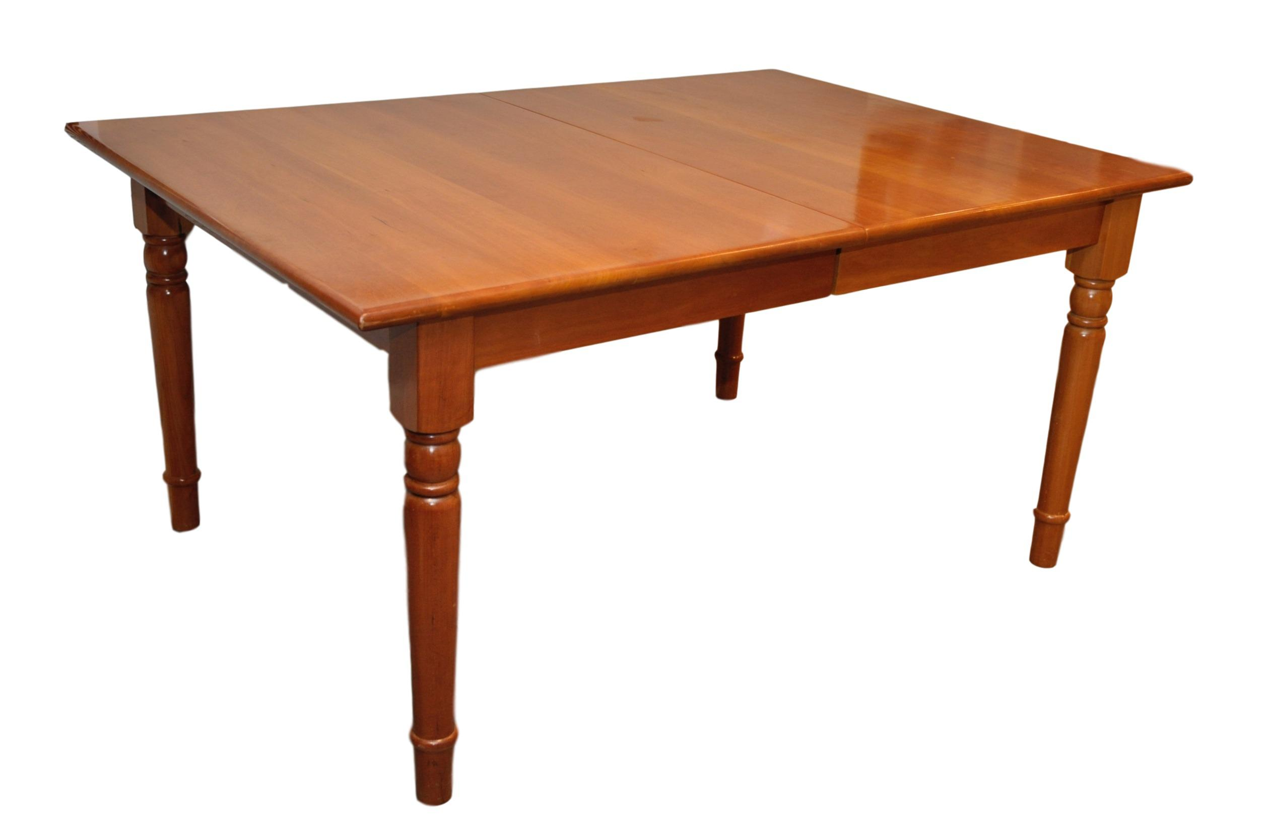 Cherry Wood Dining Table  Chairish