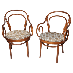 Shelby Williams Chairs Pink Slipcover Chair Bentwood Bistro Arm Pair Chairish