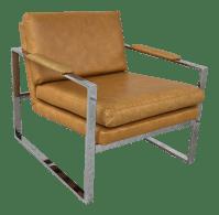 Mid Century Modern Milo Baughman Style Chrome Lounge Chair ...