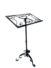 Antique Wrought Iron Sheet Music Stand | Chairish