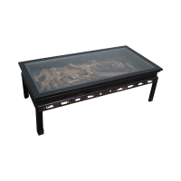 Antique Black & Gold Chinese Asian Coffee Table | Chairish