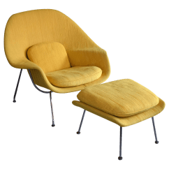 Design Within Reach Womb Chair Plastic Covers Party City On Hold Knoll Saarinen And Ottoman Chairish