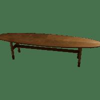 Mid-Century Danish Surfboard Coffee Table | Chairish